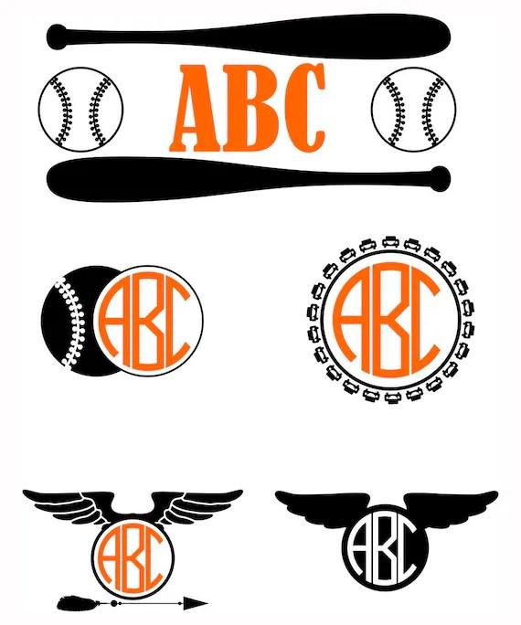 Download Boys Baseball monograms SVG Kids vector monogram Frames svg