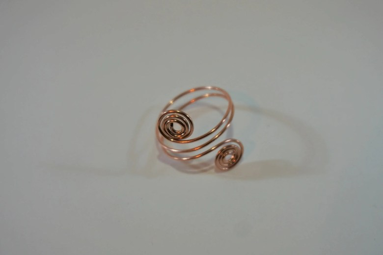 Copper Wire Spiral Ring...