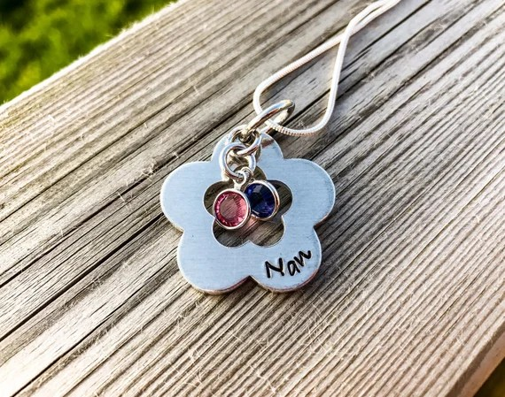 Personalised Flower Pendant