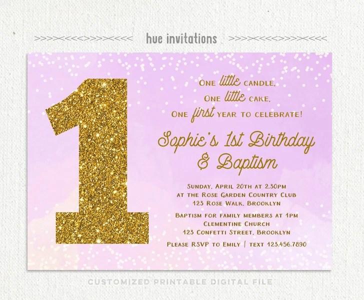 Invitation Birthday And Christening