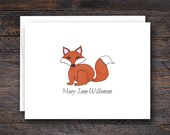 Custom Red Fox Note Cards...