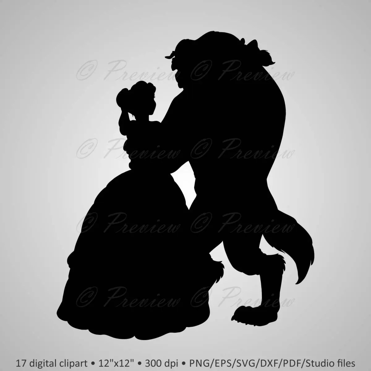 Disney Character Silhouettes Outline