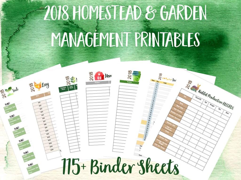 Printable Homestead Management Binder And Garden Planner