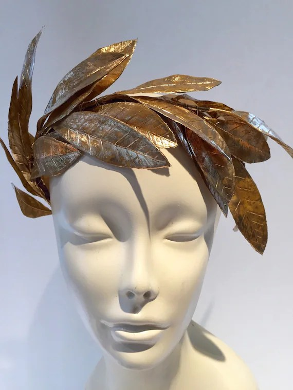 Caesar Goddess Gold Leaf Headband Goddess Headdress Toga