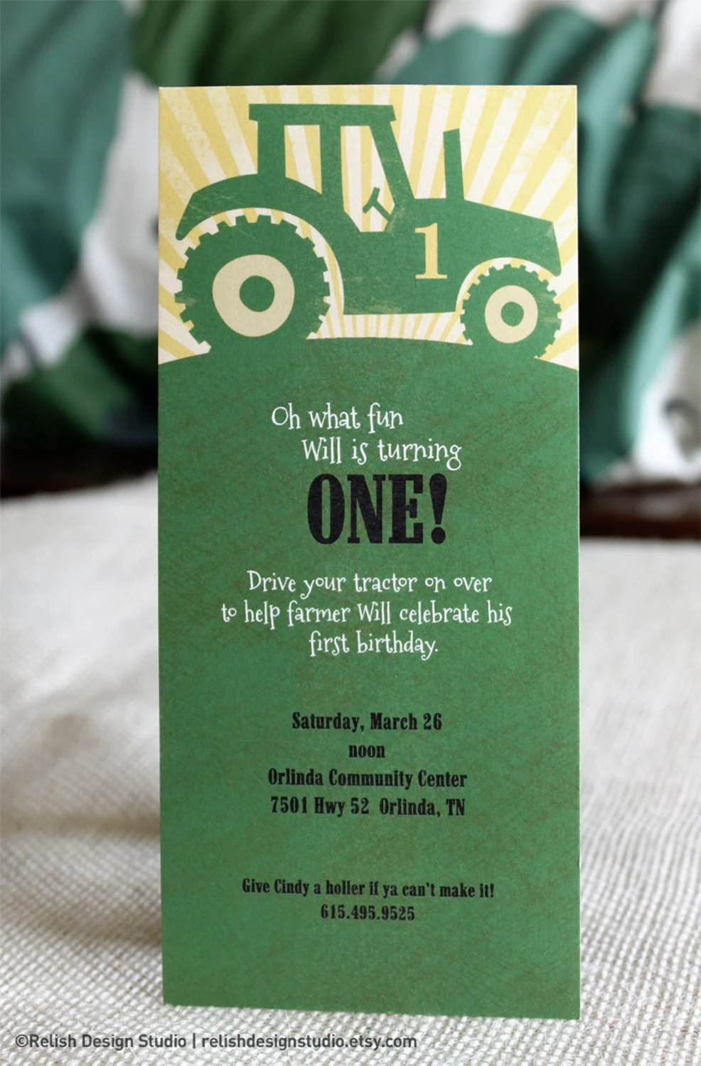 Tractor Party Invitation Wording
