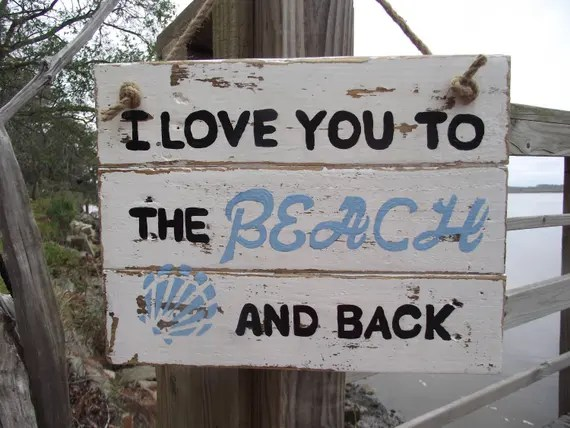 Download Beach Decor I Love You to the Beach and Back sign Beach