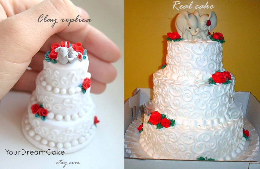 Wedding Cake Ornament  Wedding Cake Tier Picture Attractive Four     wedding cake replica ornament st anniversary
