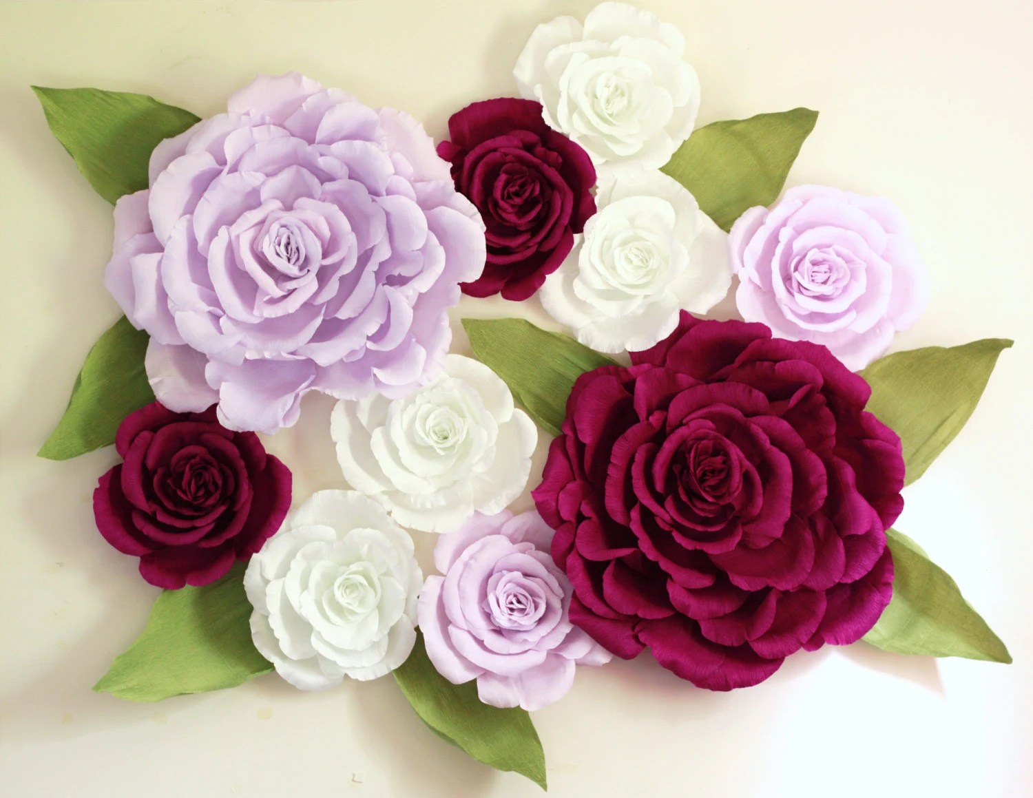 Giant Paper Flower Wall Display 5ft X 5ft Purple Wedding