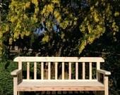 handmade garden bench sea...