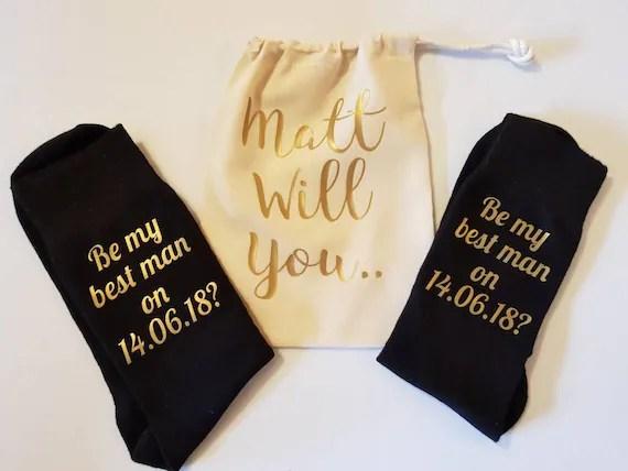 Custom Best Man Socks