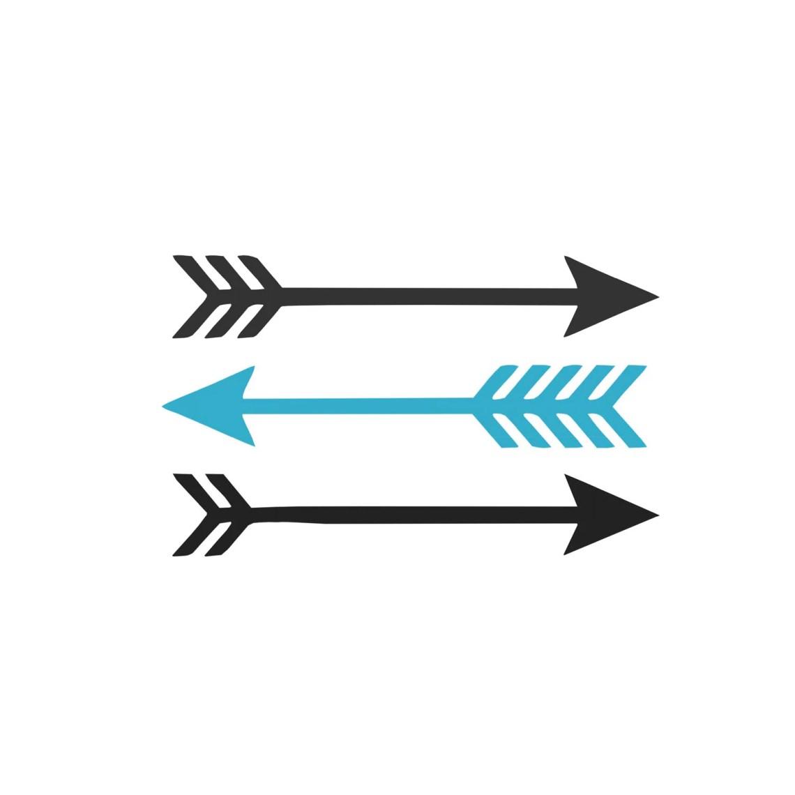 Download 3 Arrows - .SVG & .studio3 cut file - Instant Download ...