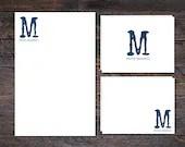 Modern Monogram Stationer...