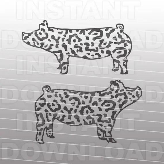 Download Show Pig SVG FileLeopard Print Show Pig SVG FileFarm Animal