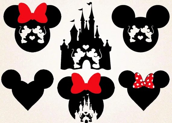 Download Mickey Mouse Disney Castle SVGpngeps/Heart Minnie