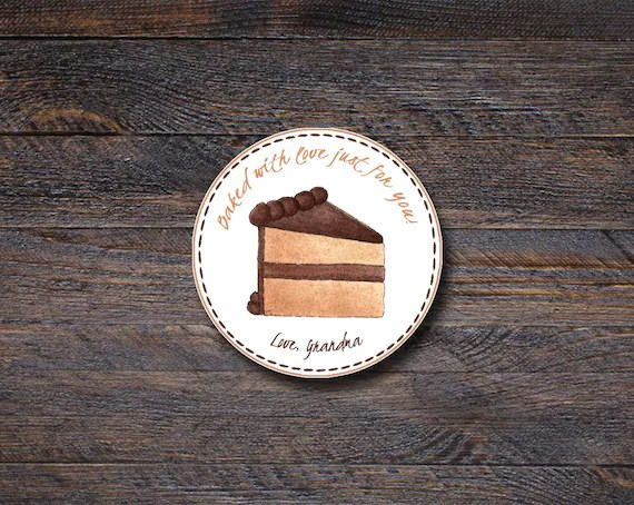Personalized Chocolate Cake Stickers