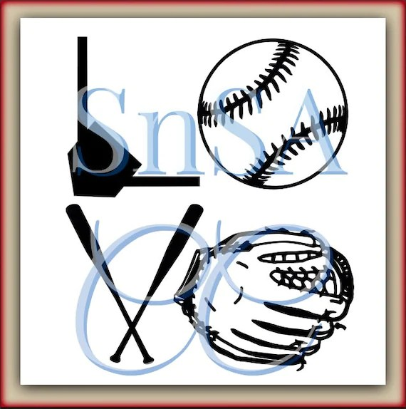 Download Baseball SVG Love Glove Base Bat Home Plate There's No