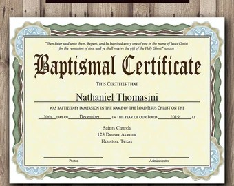 microsoft word baptism certificate template free download