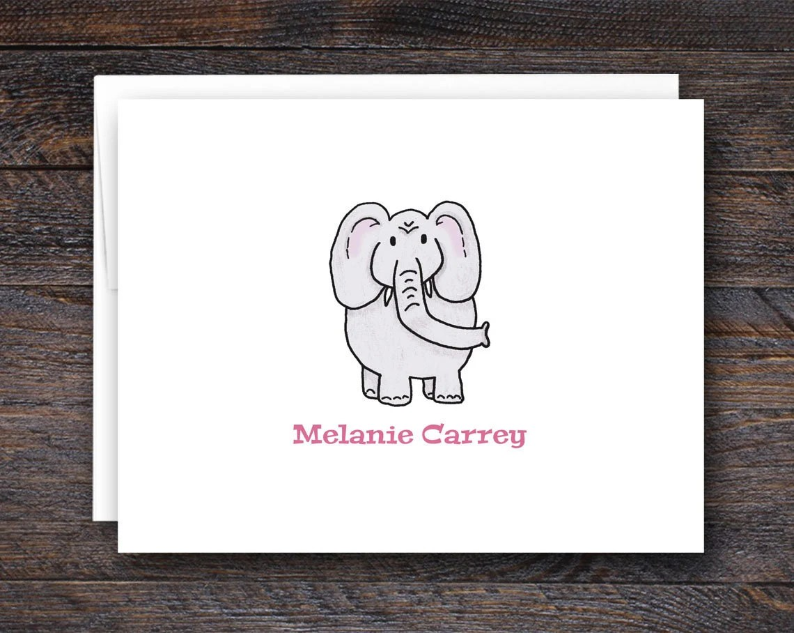 Custom Elephant Notecards...