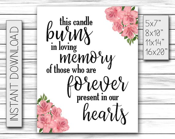 Download This Candle Burns in Loving Memory of Those Forever Present in