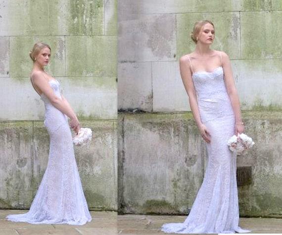 Mermaid Lace Wedding Dress Trumpet Wedding Dress French Lace