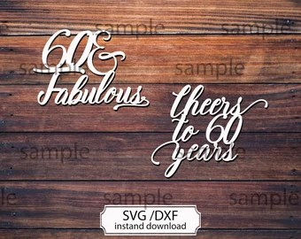 Download Sixty and fabulous | Etsy