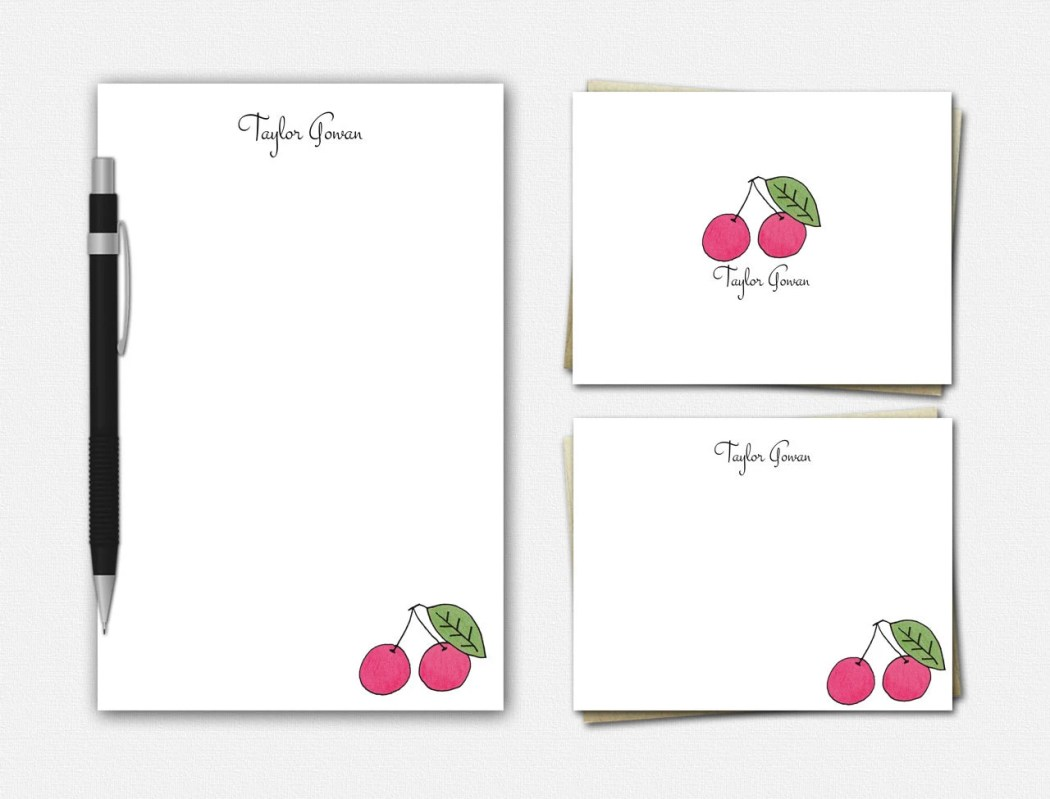 Cherry Stationery - Perso...