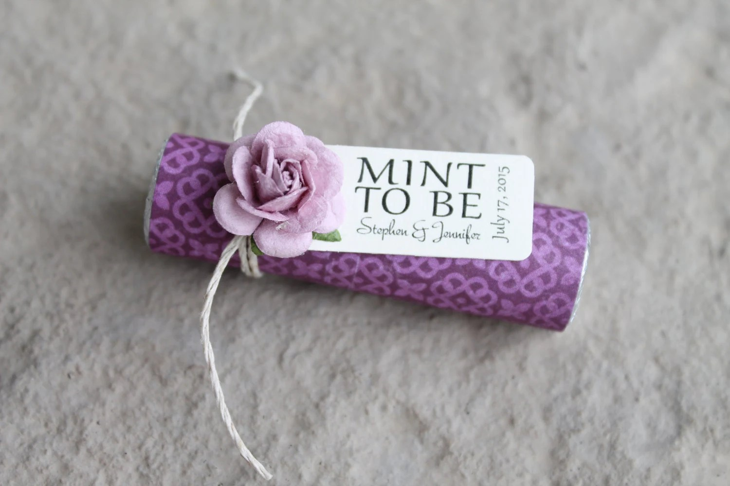 Items Similar To Purple Wedding, Mint To Be Favors With