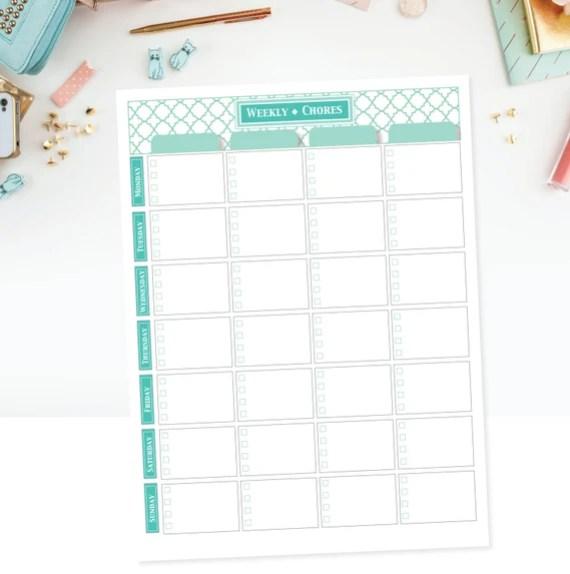 Printable & Editable Chore Chart For Multiple Children