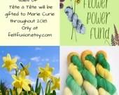 Hand dyed yarn, Flower Po...