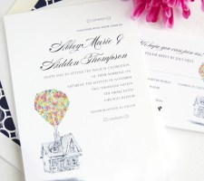 Disney Inspired UP House Wedding Invitations