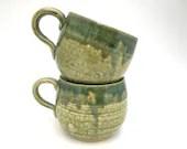 Mug - Teal and Green Roun...