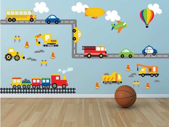 Trucks and Road Wall Decals by YendoPrint
