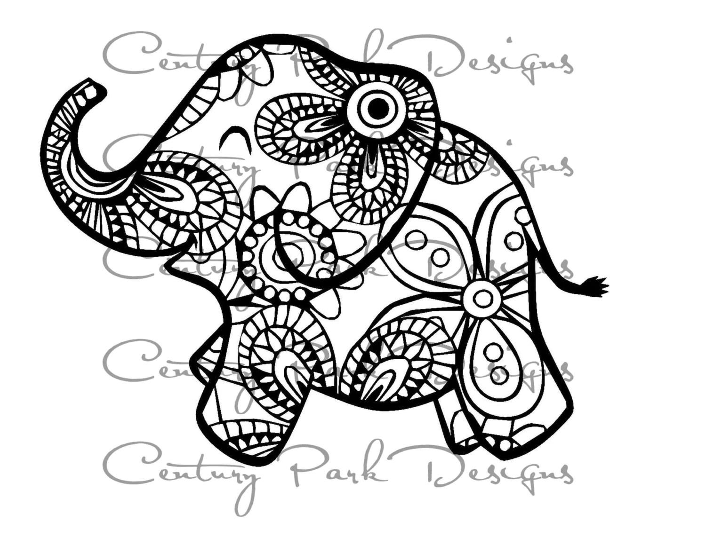 Baby Elephant Svg 003 Mandala Svg Use With