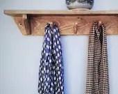 Long wood shelf with hook...