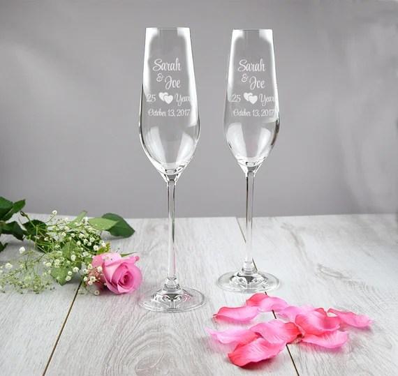 25th Anniversary Champagne Flutes