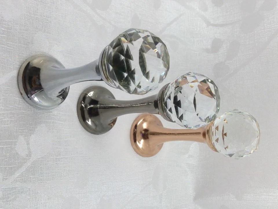 Glass Hook Decorative Hooks Wall Hooks Clear Silver Black Gold