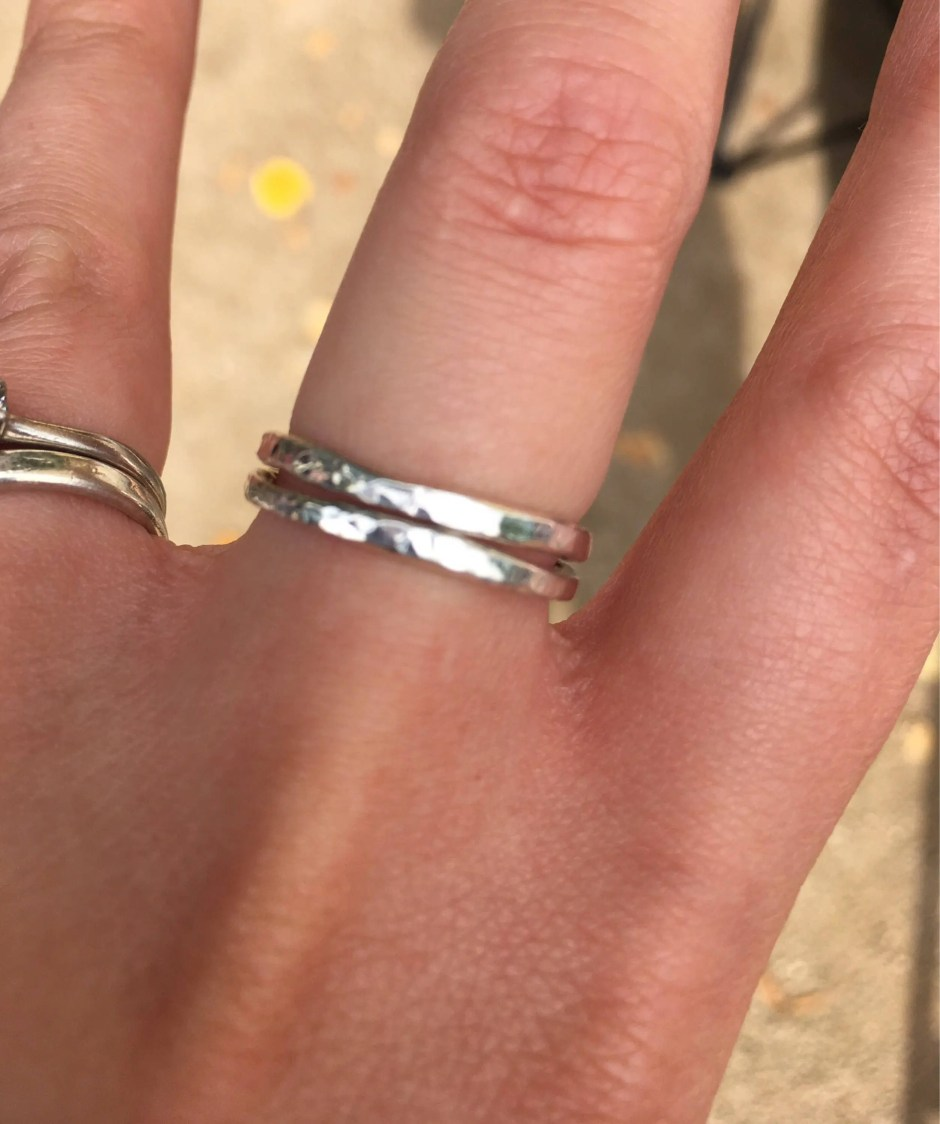 Sterling silver stacking ...