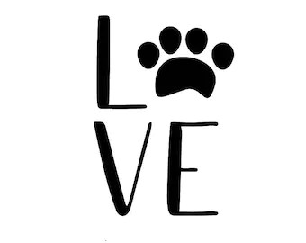 Download Dog paw with heart svg Paw print svg Dog svg Heart svg Pet