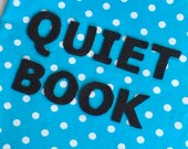 Quiet Book Cover Page Let...