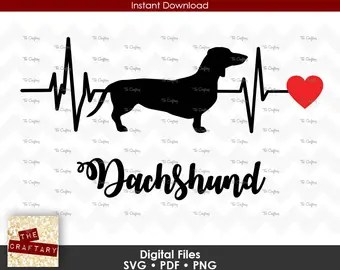 Download Dachshund heartbeat | Etsy