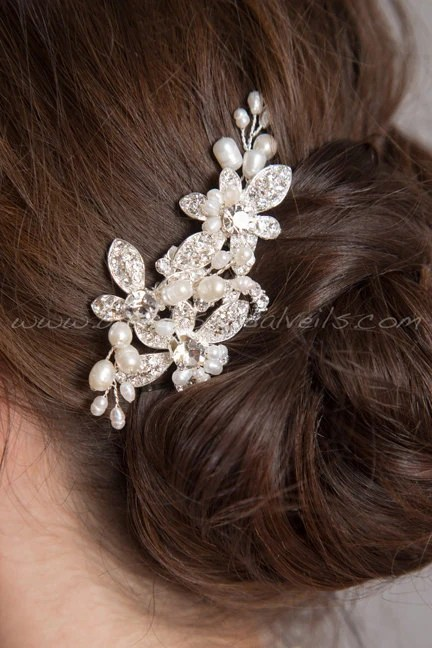 wedding hair comb bridal headpiece crystal and pearl hair comb wedding hair accessory shenise