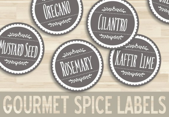 Round Printable Spice Labels - PDF Download
