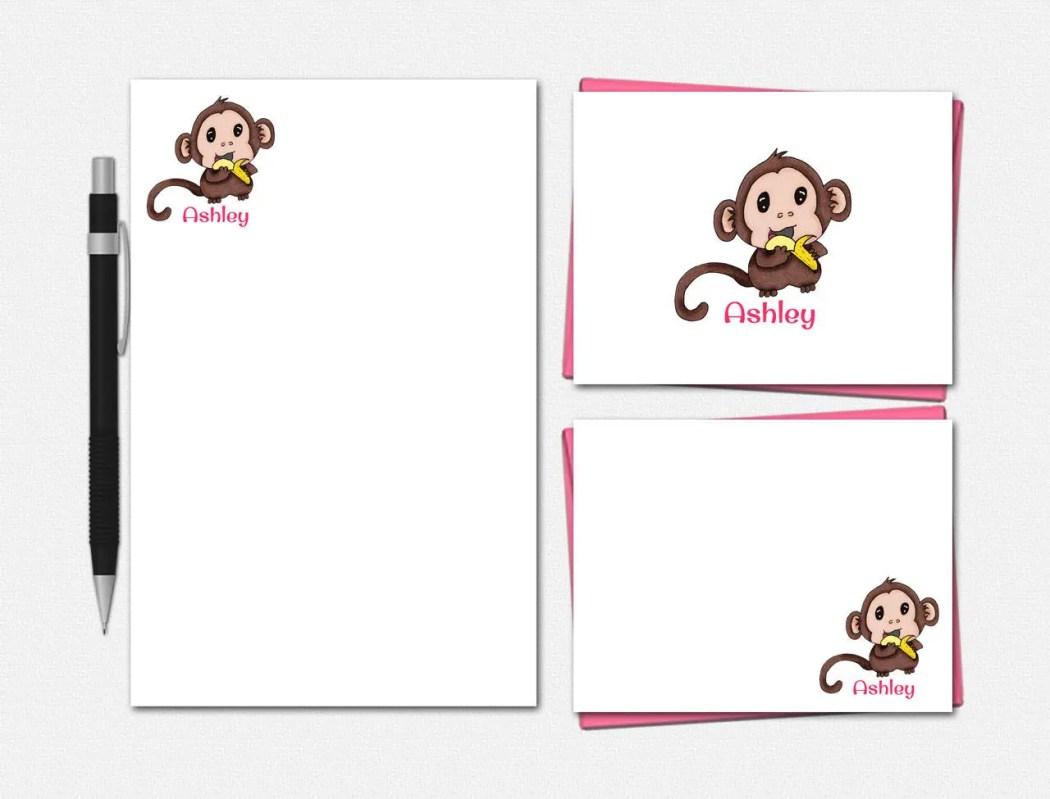 Baby Monkey Stationery Se...