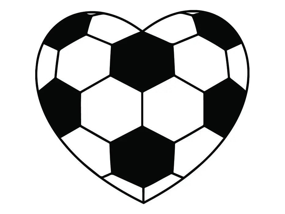 Download Soccer Ball 5 Heart Shaped Love Futball Field Team Sport