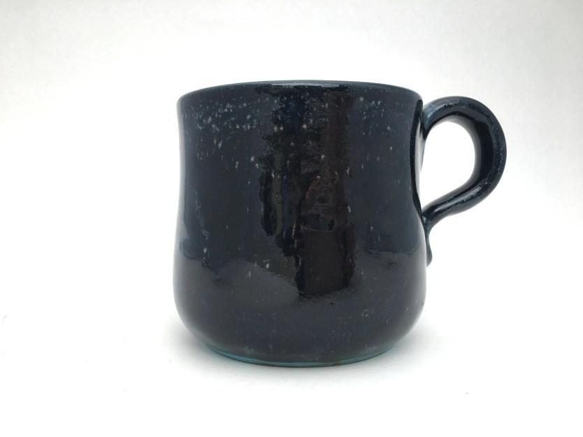 Mug - Black w/Teal Freckl...