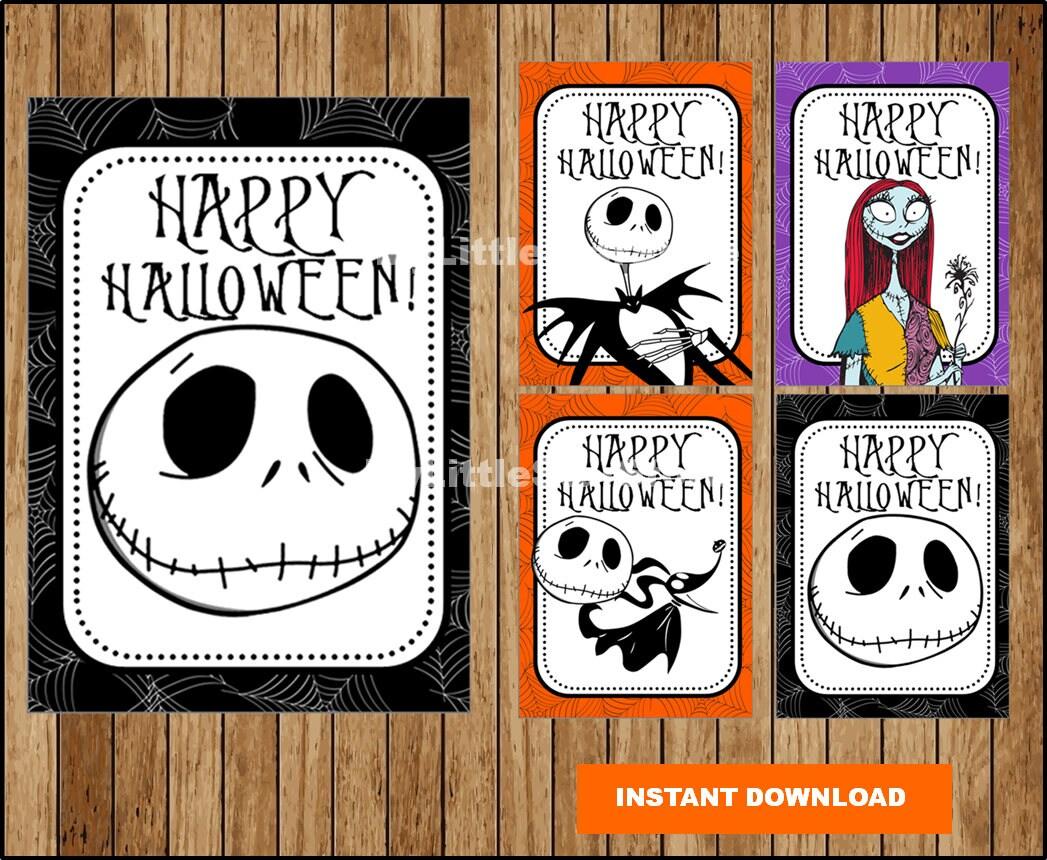 Nightmare Before Christmas Halloween Treat Tags Printable