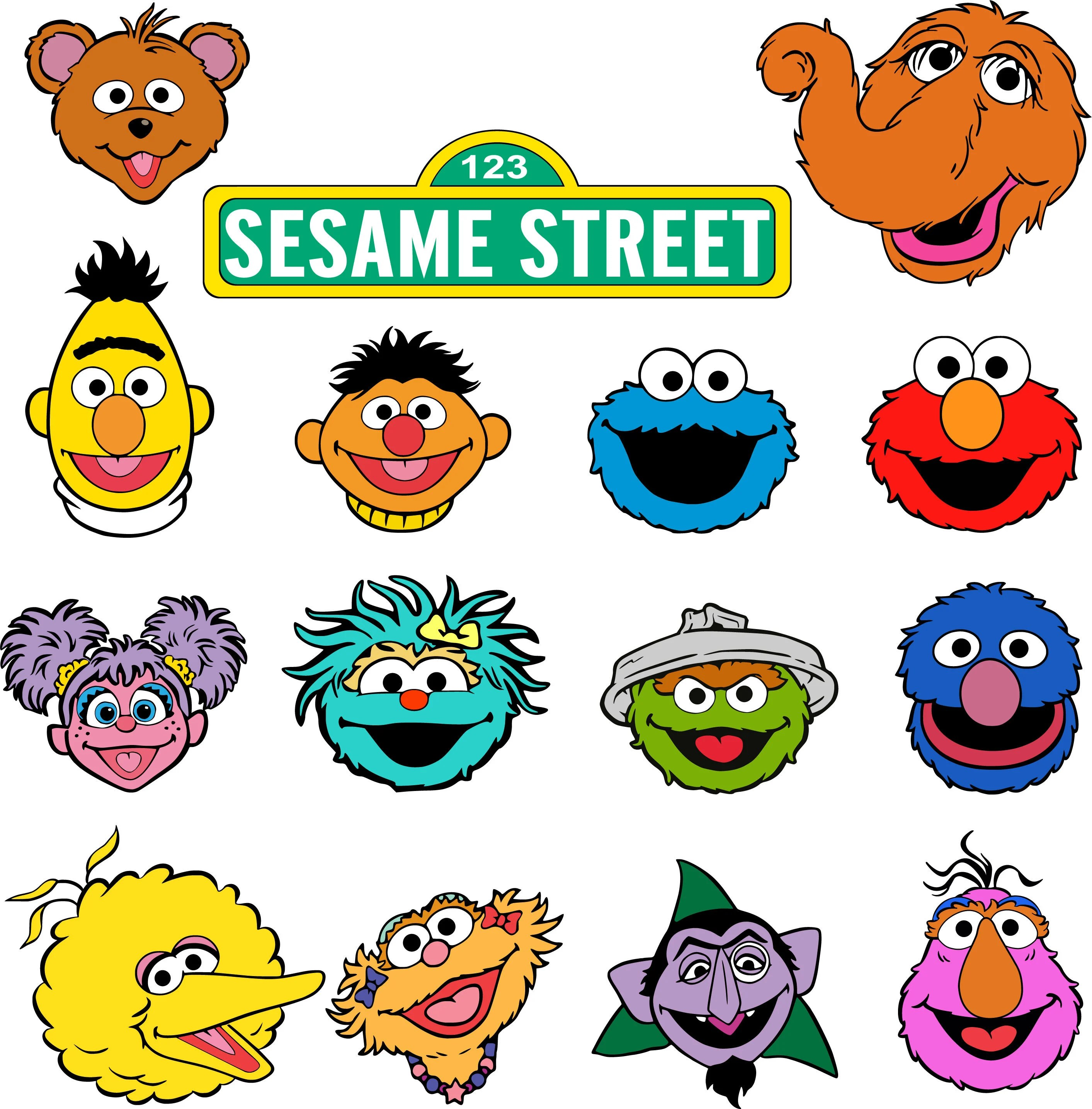 Sesame Street Vector Characters
