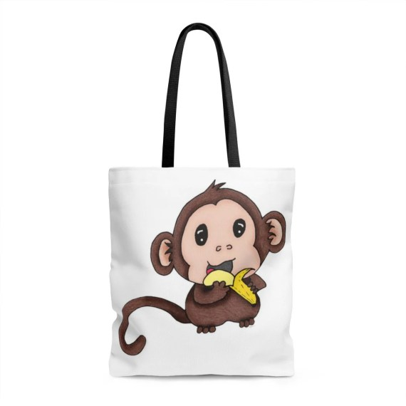 Baby Monkey Tote Bag - Perfect for use as a Diaper Bag!