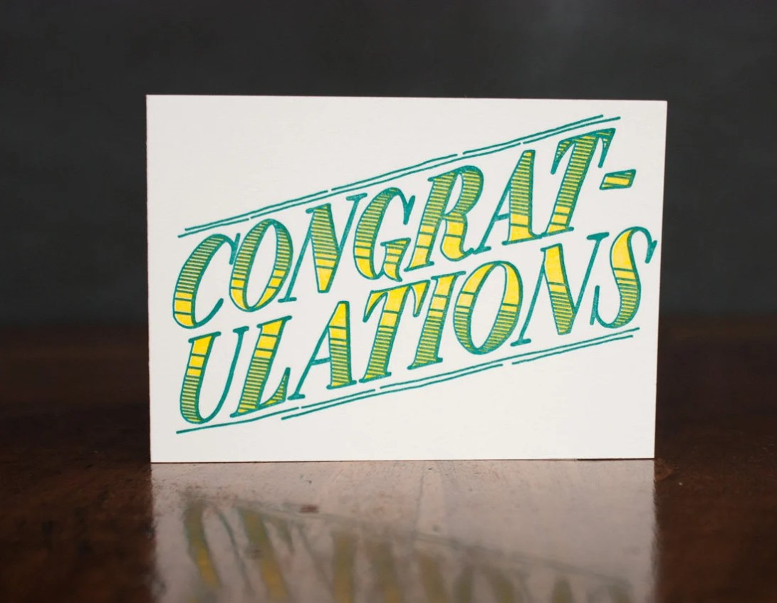 Congratulations - Card...
