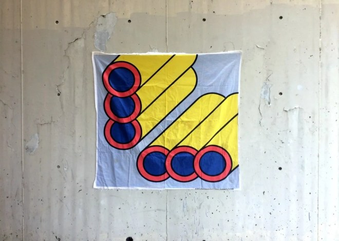 Pipes -- Op art canvas se...